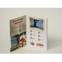 CMYK Printing Lcd Invitation Card , Video Greeting Cards IPS Screen Rechargable Battery Manufactures