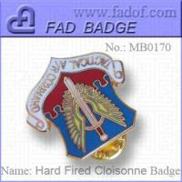 China Hard Fired Cloisonne Metals badges on sale