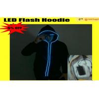 Sound Activated Neon El Wire Light Up Hoodies For Women / Mens Manufactures