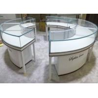 Beautiful Round Lockable Jewelry Display Cases With 0.9 CBM / Pcs Volume Manufactures