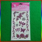 Eco-friendly fashion glitter powder temporary tattoos Manufactures