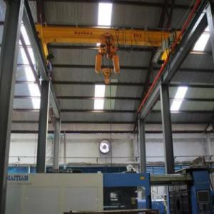 High Power Single Girder Overhead Cranes / Indoor Electric Street Overhead Crane Manufactures