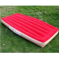Non-Phthalate PVC Inflatable Air Beds Red Portable For One Person