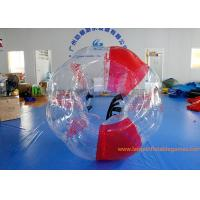 Soft Handle Red Inflatable Bubble Ball , Inflatable Bumper Balls For Adults Manufactures