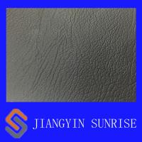 Non - Toxic 0.9mm Thickness Black PVC Artificial Leather for Handbag Manufactures