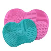 Easy Cleaning Silicone Makeup Tool Mat Anti - Oxidation With Suction Cup Manufactures
