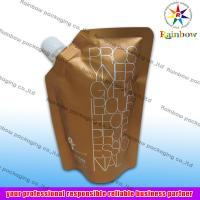 side spout pouch packaging for drink, bottom gusset bag for sale