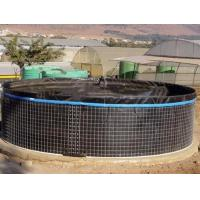 China 20000L PVC Fish Farming Tank with Lid, Flexible Tarpaulin Wire Mesh Tank For Agricultural on sale