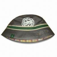 Ladies Bucket/Floppy Hat with Screen Printing, Made of 100% Cotton Twill Fabric Manufactures