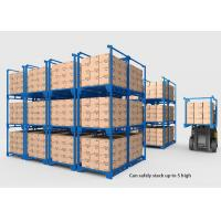 Collapsible Heavy Duty Industrial Shelving , Movable Metal Storage Rack Manufactures
