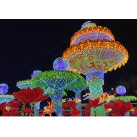 Entertainment Group Of Huge Fabric Chinese Lanterns Decorated For Outdoor Garden Manufactures