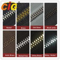 Smooth Sliding Metal Zipper For Garments Accessories , Polished Teeth Zipper Wholesale Manufactures