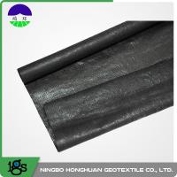 210g Black High Strength Circle Loom Polypropylene Woven Geotextile Filter Fabric Manufactures