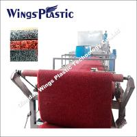Plastic PVC Car Mat Making Line / PVC Coil Carpet Extruding Machine Manufactures