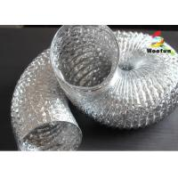 Elastic 2 Inch Aluminum Flexible Duct Fire Rated Single Layer For Residential Ventilation Manufactures