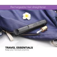 Portable Small Size Safe Battery Operated Hair Straightener , Travel Flat Iron Manufactures