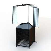Knock Down 10Panel Photo Display Stand With Grid Cabinet Manufactures