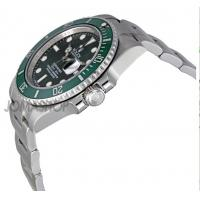Quality Rolex Submariner Green Dial Steel Mens Watch 116610LV for sale