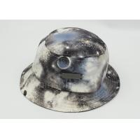 Multi Color Cotton Printed Fishing Bucket Hat Metal Patch For Lady