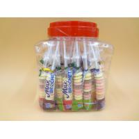 Funny Milk Flavored Brochette Sugar Candies With Jar Various Candy Shapes Manufactures