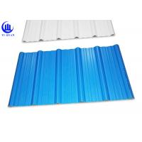 Trapezoidal Wave Type PVC Plastic Roofing Sheets 3 Layer Heat Insulated Manufactures