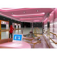 Lovely Style Retail Shoe Store Display Fixtures Decorated With LED Strip Lights Manufactures