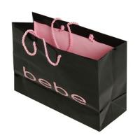 Luxury Black Custom Made Shopping Bags With Logo For Cosmetics Packaging Manufactures