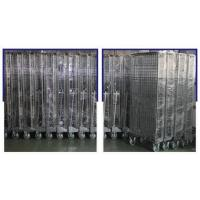 Four Side Mesh 2 Shelves Wire Utility Cart, Tool Storage Wire Roll Cage