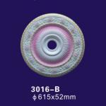 Iridescent Pu Polyurethane Ceiling Medallion Rose Design For Interior Decoration Manufactures