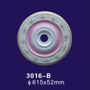 China Iridescent Pu Polyurethane Ceiling Medallion Rose Design For Interior Decoration on sale
