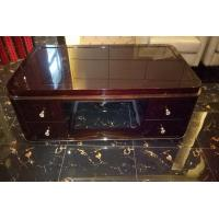 Rectangle Hotel Coffee Table Classical Style High Gloss Ebony Wood Veneer Material Manufactures