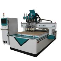 3D Sculpture Automatic CNC Router Wood Carving Machine T Style Heavy Duty Frame Manufactures