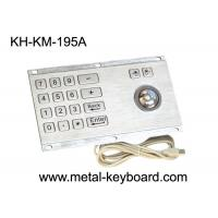 Indoor / Outdoor Rugged Water Proof Kiosk Industrial Numeric Keyboard With Trackball Mouse Manufactures