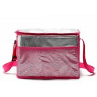 Green Insulated Tote Lunch Bag With Shoulder Strap Aluminum Foil Material Manufactures