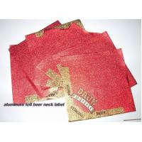 Embossing Square Aluminum Foil Labels  Beer Neck Label Eco Friendly 105mm X105 mm Manufactures