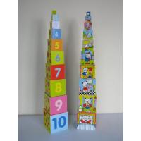 China Educational Children Ultra High Stack Linden Wood Wooden Buiding Blocks with Interlocking on sale