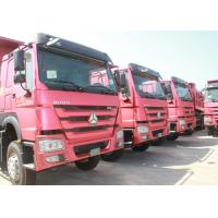 Brand New Tri Axle Dump Truck , Hydraulic Dump Truck With Manual Transmission Manufactures