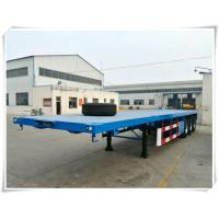 3 Axle 12 Pcs Container Trailer Truck 20FT / 40FT Flatbed Truck Trailer Manufactures