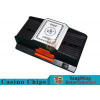 1 - 2 Decks Playing Card Shuffler Suitable For Wide Plastic Poker Cards Manufactures