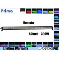 China 52 Inch 300W Remote Control LED Light Bar Double Row Straight Color Changing Type on sale