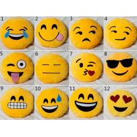 Yellow Emoji Emoticon Round Stuffed Baby Sleeping Pillow For Home Use Manufactures