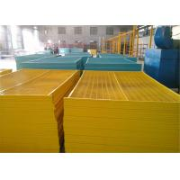 "Quality 6'x9.6' canada standard construction fencing panels frame 1.2""/30mm*1.4mm thick brace 3/4""/ 20mm*1.00mm powder coated for sale"