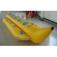 China Yellow PVC Single Tube Inflatable Banana Boat For Water Sports on sale