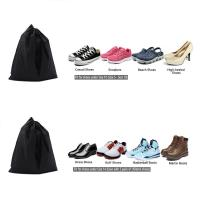 Reusable Single Fabric Shoe Bags Waterproof Nylon Fabric Promotional Manufactures