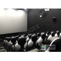 Customize Seats 5D Theater System Leather And Fiberglass Material Manufactures