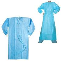 Single Use Disposable Hospital Gowns Sterile / Non Sterile With Blue Color Manufactures