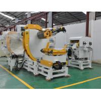 Material Width 600MM Decoiler Coil Processing Equipment / Pneumatic Punch Press Feeder Manufactures