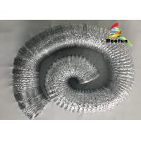 Quality Environmental Friendly Range Hood Flexible Duct , Single Sided Aluminum Flexible Ducting for sale