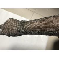 19cm Extended Cuff Chain Mail Stainless Steel Mesh Gloves For Slaughtering Manufactures
