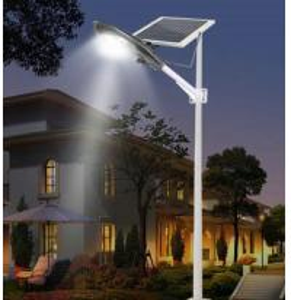 Semi Integrated Solar Street Lights 20W Adjustable Bracket For Parking Area Manufactures